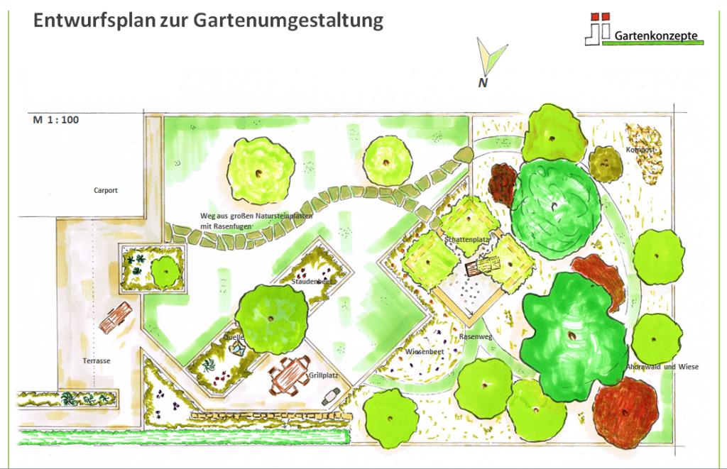 JI-Gartenkonzepte Entwurfsplan